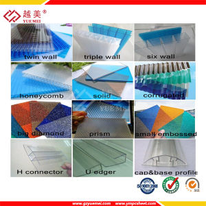 Yuemei High Quality Good Price Polycarbonate Hollow Sheet/Polycarbonate Solid Sheet/Polycarbonate Embossed Sheet pictures & photos