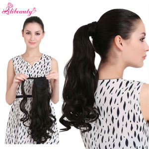 Wholesale Hot Wavy Ponytail Fashion Natural Hair Women′s Ponytail pictures & photos