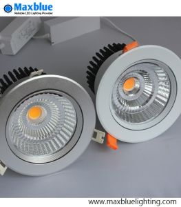 LED COB Downlight Recessed Lighting Fixture with Brand Dimmer Driver pictures & photos