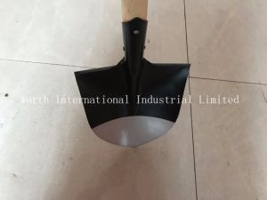 Red Grip Soft Wood Handle Shovel pictures & photos