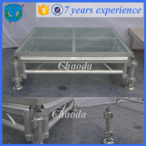 Stable Used Tempered Glass Platform Aluminum Stage