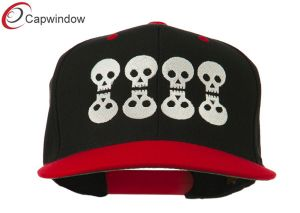 Black Red Halloween 8 Skulls Embroidered Snapback Hat (01059) pictures & photos