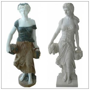 Human Marble Stone Carved Sculpture Stone (FY37)