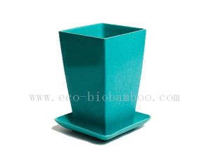 Biodegradable Bamboo Fiber Flower Pot (BC-F1004) pictures & photos