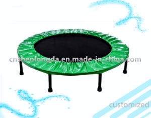 Customized: Green Round Trampoline, Indoor Trampoline, Entertainment Equipment pictures & photos