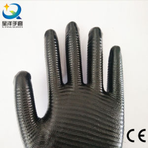 13 Gauge Zebra Stripe Natrile Coated Labor Protective Safety Work Gloves (N6026) pictures & photos