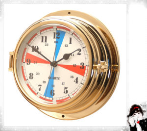 Nautical Radio Room Clock Brass Case Dial 180mm pictures & photos