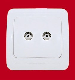 2 Gang Wall TV Socket (YW8028)