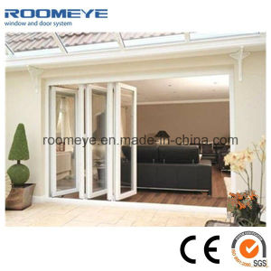 European Style Hot Sale Double Glass Aluminum Frame Folding Door pictures & photos