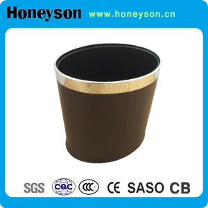 PU Leather Double Layer Garbage Bins/Dustbin for Hotel pictures & photos
