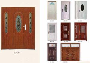 Steel Exterior Metal Door with Glass pictures & photos