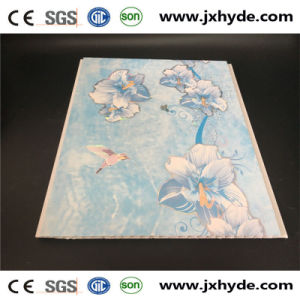 6*250mm Flower Patterns Hot Stamping PVC Panel Ceiling Design pictures & photos