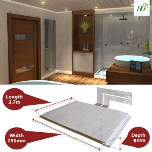 9*250mm Hot Stamping Gery Color PVC Wall Panel Plastic Panel pictures & photos