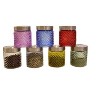 Color Ribble Diamond Glass Jar 850ml, 1100ml, 1800ml, 2200ml pictures & photos