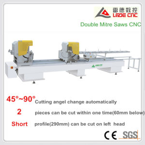 PVC Windows Cutting Machine UPVC Doors Processing Double Head Cutting Saw pictures & photos