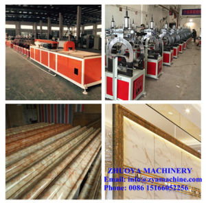 PVC Artificial Marble Profile Edging Line Extruder Machine pictures & photos