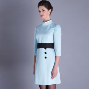 Women Formal Khaki New Design Ladies Office Dress 2016 pictures & photos