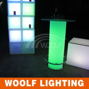 LED Light Illuminated Bar Table with Ice Bucket pictures & photos