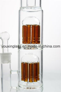 17′′ Glass Smoking Pipe Glass Water Pipe with Two Brown Arm Tree and Thick Base pictures & photos