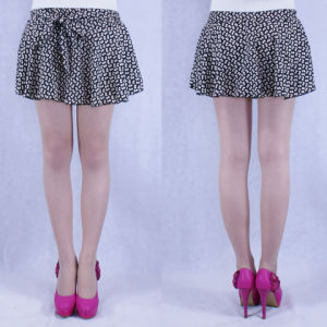 Chiffon Skirt with Bow (Q1305)