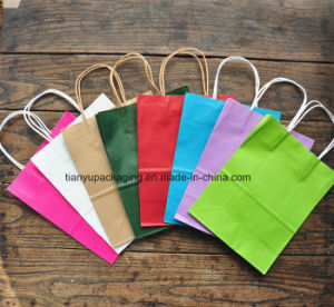 Colorful Kraft Paper Bags with Bio-Degradable Paper and Printed pictures & photos