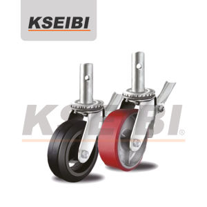 Good Quality Kseibi Scaffold Caster Steam with Brake pictures & photos