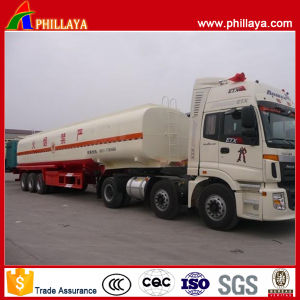 Carbon Steel Oil Tank 3 Axles Fuel Tank Semi Trailer pictures & photos