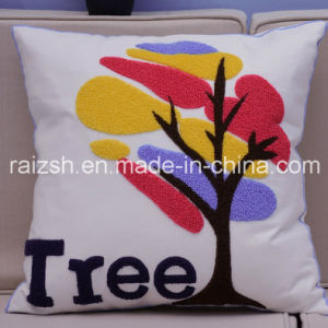 High-End Three-Dimensional High-Quality Cotton Embroidered Pillow Customized Embroidered Pillow Cover for Wholesale