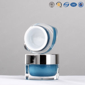 Oval High End Plastic Acrylic Cosmetic Packaging Cream Container Jar pictures & photos