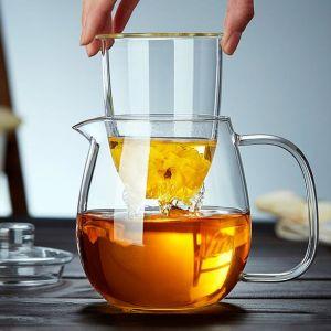 600ml Glass Tea Pot Hand Made Tea Jug Gift Tea Set with Pot & Cup pictures & photos