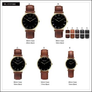 Promotion Sport Stainless Steel Fashion Lady Men′s Watches Quartz Leather Strap Wrist Watch pictures & photos