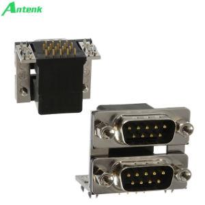 D-SUB Connectors Dual Ports R/a Male/Female pictures & photos