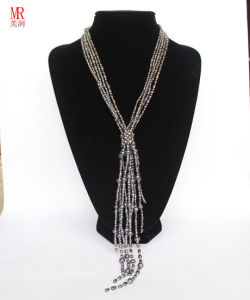 Black Fashion Freshwater Pearl Long Necklace pictures & photos