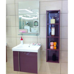 Oppein Purple Silver Shining Laminated Bathroom Vanity (OP12-002-60) pictures & photos