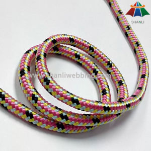 6mm Double Braided Nylon Cord, Mixed Color Nylon Rope for Sports Equipment pictures & photos