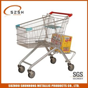 European Style 4 Wheels Shoppig Trolley with Good Quality