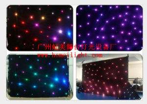Mix Full Colors RGB Star Curtain LED Star Curtain LED Star Cloth Light 4*6 3*6 pictures & photos