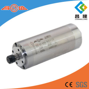 Manufacture 800W Water Cooled High Speed Three Phase Asynchronous Spindle Motor for Wood Carving CNC Router pictures & photos