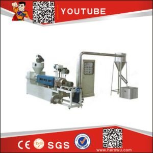 Single Screw Wind-Cooling Hot-Cutting Waste Plastic Recycling Machine pictures & photos