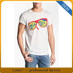 Custom Adult Cotton Short Sleeve Screen Printing T Shirts pictures & photos
