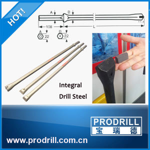 Integral Drill Rod for Mining Drilling Hex22*108, L=1600mm pictures & photos