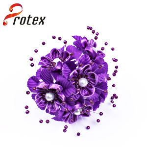 Popular Beautiful Elegant Purple Cheap Wholesale Artificial Flower Ornament pictures & photos