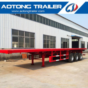 40 Feet Flatbed Semi Trailer, Tri Axle Container Semi Trailer pictures & photos