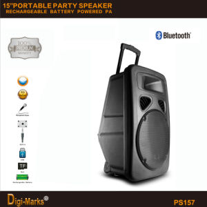 Perfect Sound 15′′ Multi-Functional Outdoor Bluetooth Battery USB Micro SD Port Speaker pictures & photos