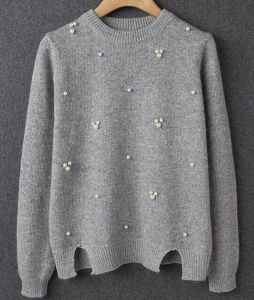Women′s Acrylic Knitted Fashion Pullover