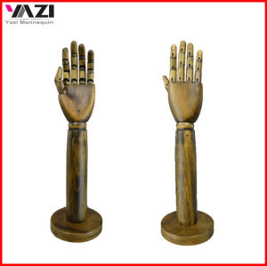 Solid Wood Female Hands Manneqiuin with Round Baseplate pictures & photos