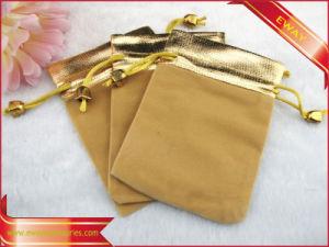 Velvet Bag for Jewellery Gift Packing Velvet String Bag pictures & photos
