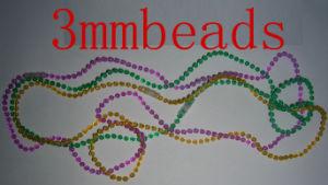 Small Mardi Gras Bead Necklace