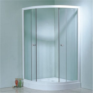 Bathroom Corner Simple Sliding Glass Black Shower Enclosure 90 pictures & photos