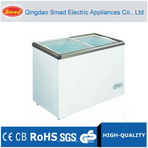 Flat Glass Door Chest Freezer 100~528L pictures & photos